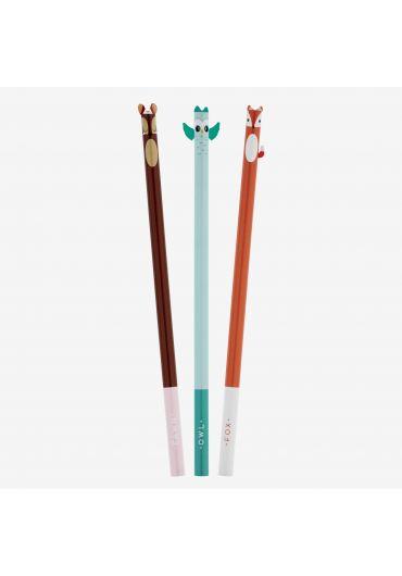 Set 3 creioane - Little Woodland Friends