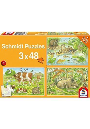 Puzzle 3x48 Animal family