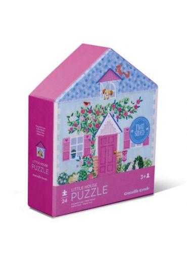 Puzzle 24 piese 2 fete - Little house