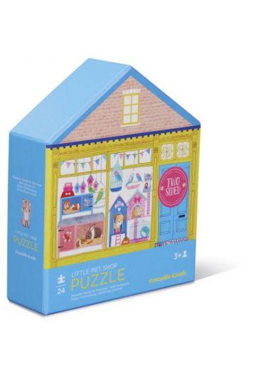 Puzzle 24 piese 2 fete - Little pet shop