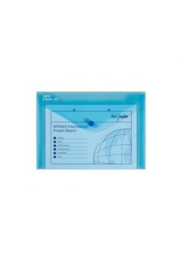 Mapa plastic cu buton A5 albastra Polyfile
