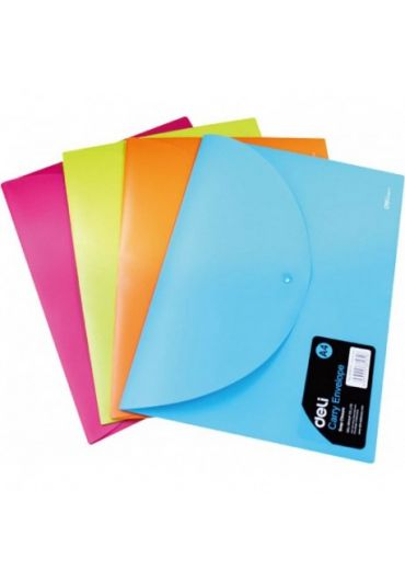 Mapa plastic cu buton A4 diverse culori neon