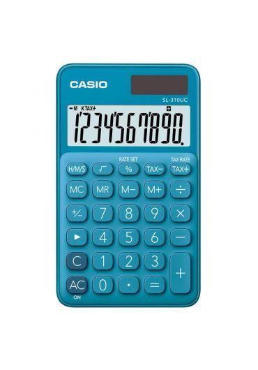 Calculator Casio birou 10 cifre albastru