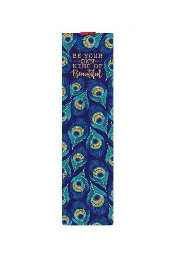 Semn de carte cu elastic - Peacock