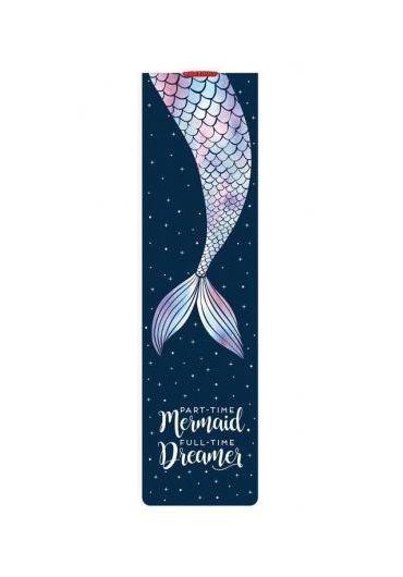 Semn de carte cu elastic - Mermaid