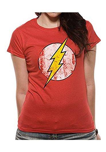 Tricou The Flash Logo pentru fete Rosu - Marimea XL