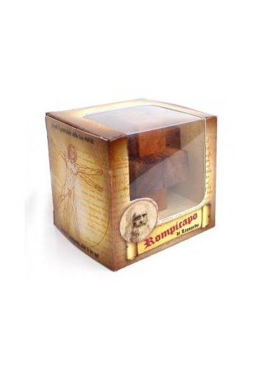 Puzzle din lemn Nailed Cube - Leonardo da Vinci