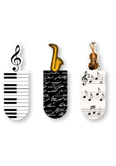 Semn de carte magnetic Muzica