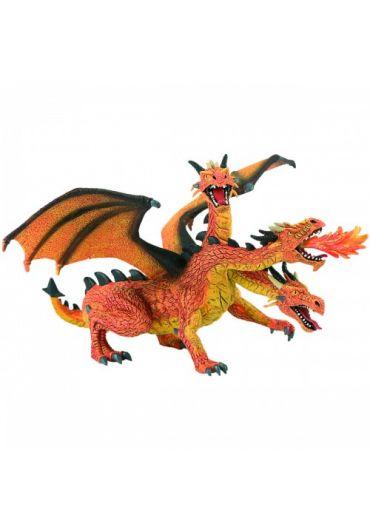 Figurina Dragon cu 3 capete orange