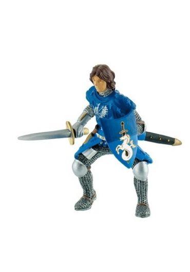 Figurina Cavaler cu sabie albastru