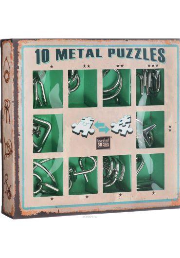 Set 10 Puzzle-uri metalice Verde