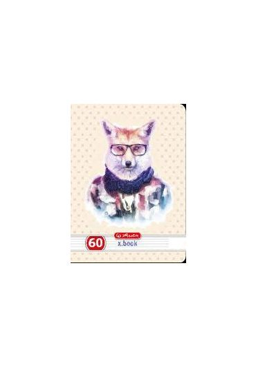 Caiet A4 60 file dictando Hipster Animals