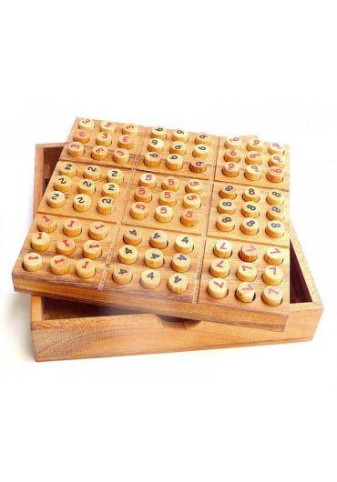 Joc Sudoku din lemn
