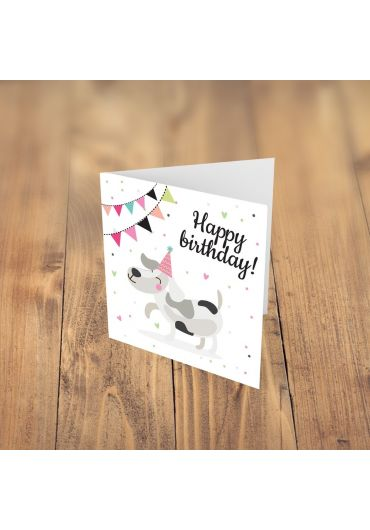 Felicitare - Happy Birthday - catel