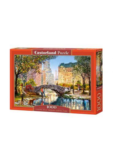 Puzzle 1000 piese Evening walk through Central Park