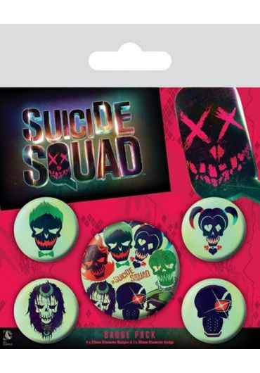Set 5 insigne Suicide Squad 1