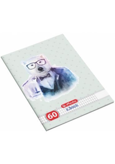 Caiet A4 60 file matematica, motiv Hipster Animals