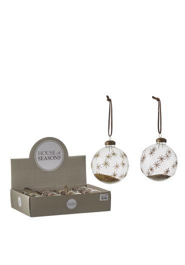 Decoratiune brad - Xmas ball gold champagne