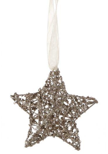 Decoratiune brad - Xmas star champagne