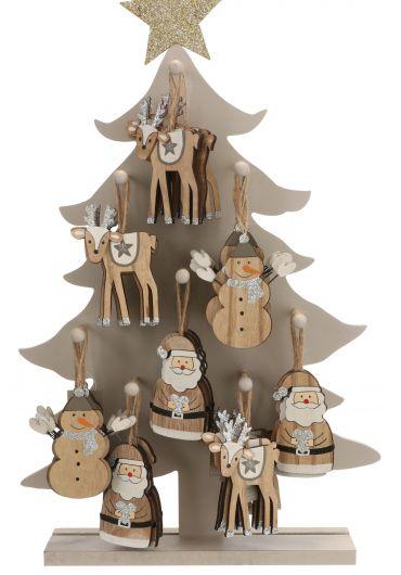 Decoratiune brad - Xmas figurine grey