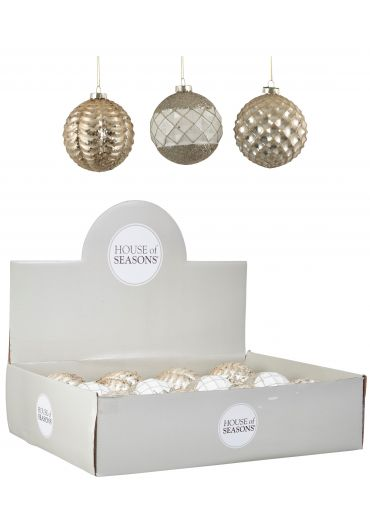 Decoratiune brad - Xmas bauble glass champagne