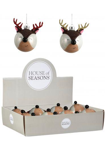 Decoratiune brad - Xmas deer brown