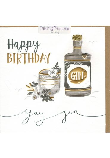 Felicitare - Happy Birthday - Gin