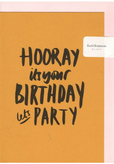 Felicitare - Hooray! It's your birthday, let's party