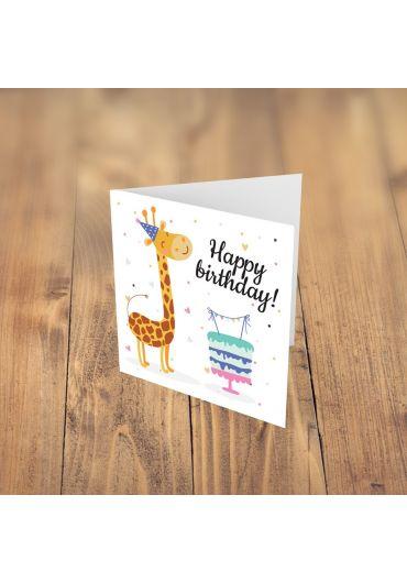 Felicitare - Happy Birthday Girafa