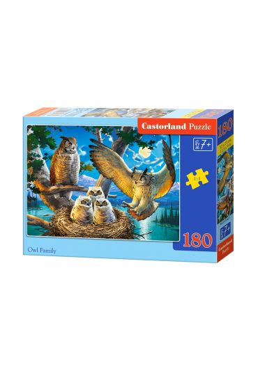 Puzzle 180 piese Owl Family