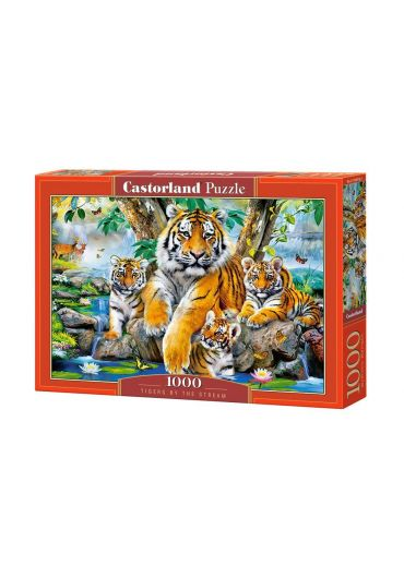 Puzzle 1000 piese Tigers by the Stream