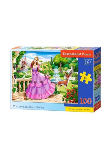Puzzle 100 piese Princess in the Royal Garden
