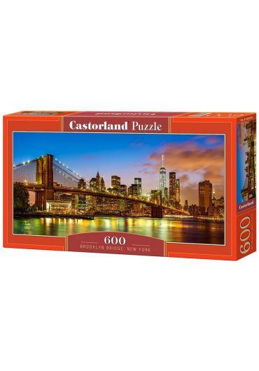 Puzzle Panoramic 600 piese Brooklyn Bridge