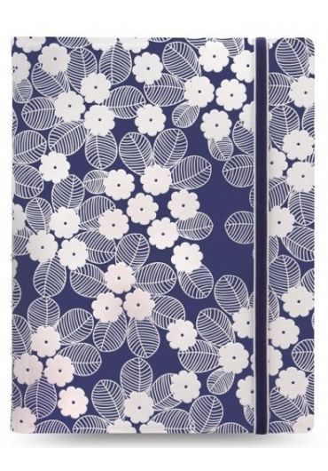 Notebook A5 Impressions cu elastic, spirala si rezerve - Navy & White