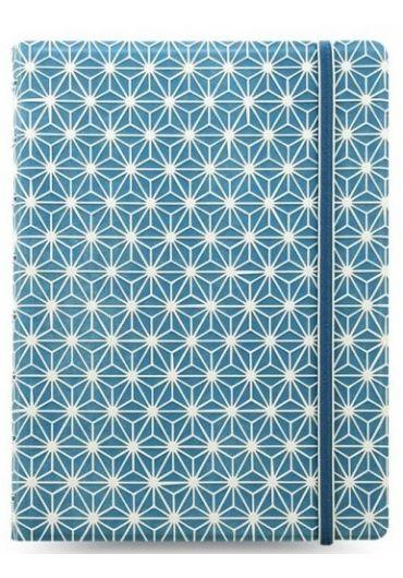 Notebook A5 Impressions cu elastic, spirala si rezerve - Blue & White