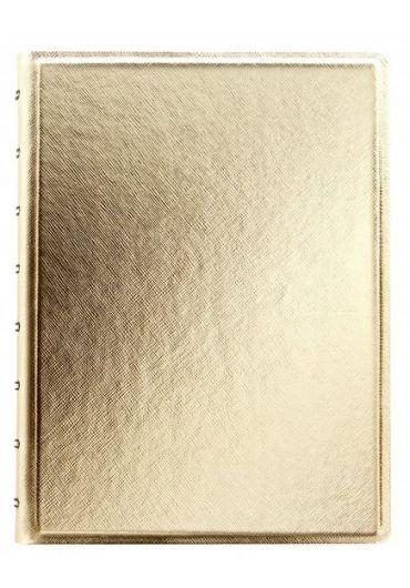 Notebook A5 Saffiano Metallics cu spirala si rezerve - Gold