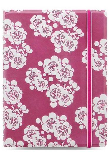 Notebook A5 Impressions cu elastic, spirala si rezerve - Pink & White