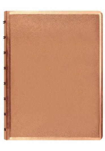 Notebook A5 Saffiano Metallics cu spirala si rezerve - Rose Gold