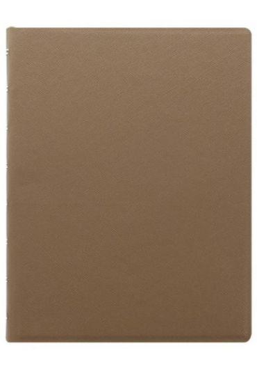 Notebook A5 Saffiano cu spirala si rezerve - Fawn