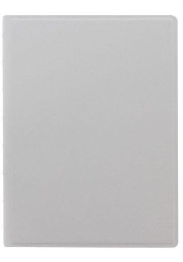 Notebook A5 Saffiano Fluoro cu spirala si rezerve - Grey & Fluoro Yellow