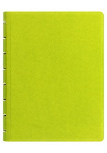 Notebook A5 Saffiano cu spirala si rezerve - Pear