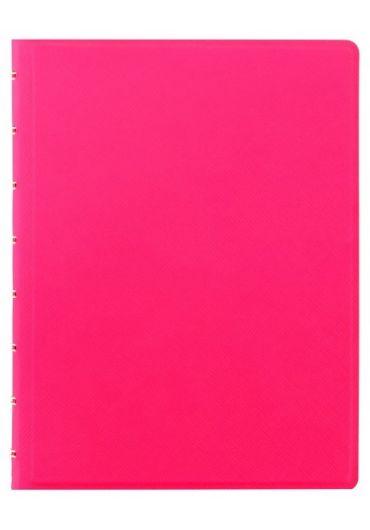 Notebook A5 Saffiano Fluoro cu spirala si rezerve - Pink