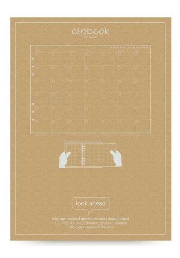 Rezerva hartie Notebook A5 Month Planner - Pastel