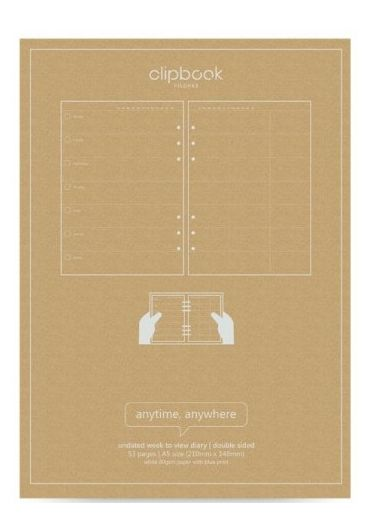 Rezerva hartie Notebook A5 Week to view Diary - Undated Pastel