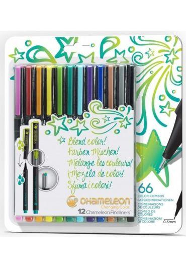 Set 12 Fineliner Chameleon Chanching Color Bright