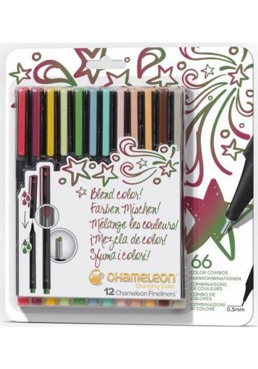 Set 12 Fineliner Chameleon Chanching Color Designer