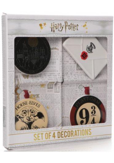 Set 4 decoratiuni - Harry Potter (Letter, Hogwarts, Dobby, (9 3/4)