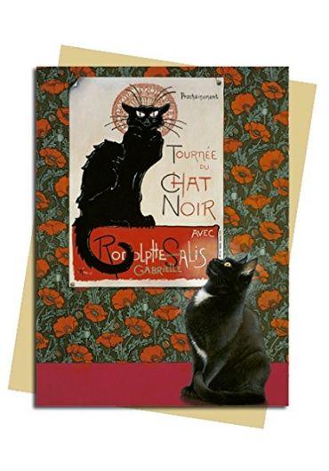 Felicitare - Tournee Du Chat Noir Nouveau - Ivory Cat