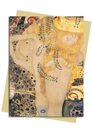 Felicitare - Klimt - Water Serpents I