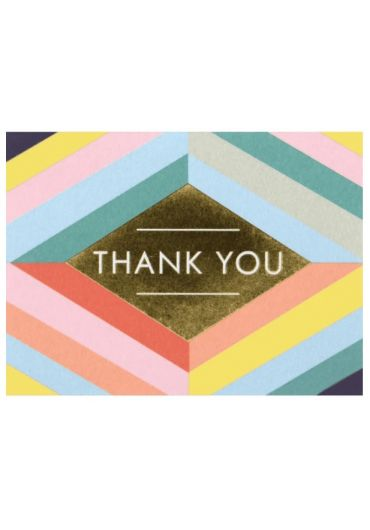 Felicitare - Geometric Pastel Lux - Thank You